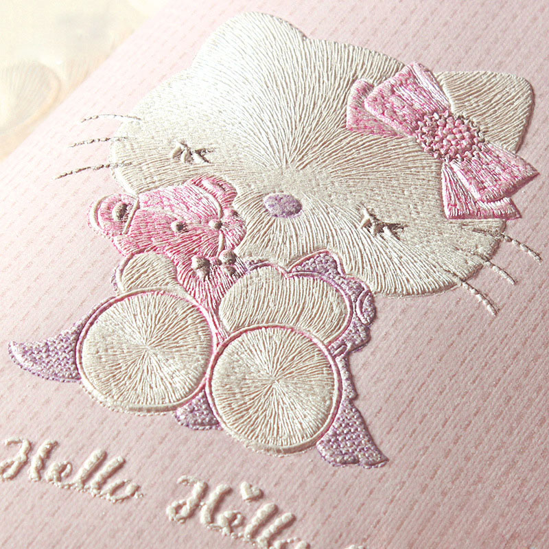 цена на Cartoon Cat Wallpaper for Children's Room Boys Girls Bedroom Wall Decoration Pink Blue White Beige 3D Non-woven Wall Paper Roll