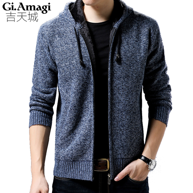 2017 Hot Sale Brand Clothing Winter Thicker Cardigan Male Fashion Quality  Cotton Christmas Sweater Men Casual 4a26dd4ab6
