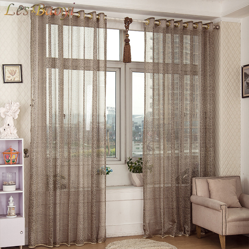 Curtain For Balcony: Les Baoyi High Quality Solid Window Screening Tulle Net
