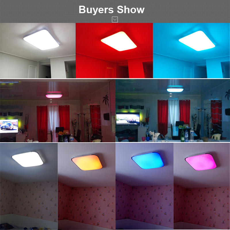 Plafoniera Led Rgb.Us 57 0 59 Off Modern Led Ceiling Lights For Living Room Square Lustres Plafoniera Led Dimmer Rgb Ceiling Lamps Bedroom Luminaria Teto Remote In