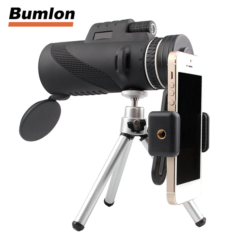 Outdoor Telescope HD 40x60 Monocular High Definition for Mobilephone Handheld with Tripod HT38-0006