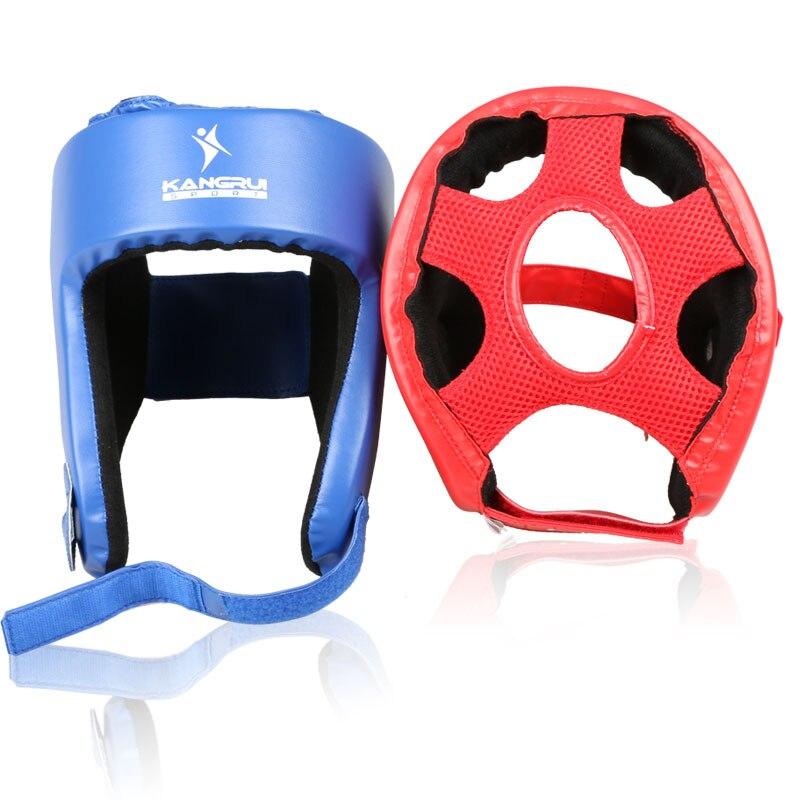 Hot koop bokshelm Rood blauw volwassen Kinderen kickboksen vechten - Sportkleding en accessoires - Foto 5