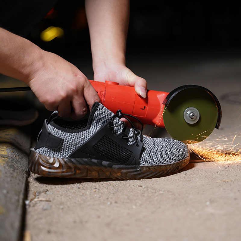 Erkekler Ve Kadınlar Çelik Ayak Hava Güvenlik savaş Botları Yıkılmaz Ryder Ayakkabı ışık Çalışma Sneakers Nefes Ayakkabı