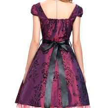 Womens Robe Vintage London palace Dresses 2017 Pin up Swing 50s flower print Princess Women Party vestidos Plus size clothing