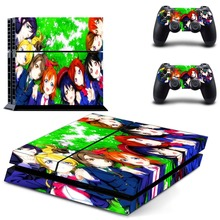 Anime Cute Girl Tokisaki Kurumi GTA5 PS4 Skin Sticker Decal Vinyl for Sony Playstation 4 Console and 2 Controllers PS4 Sticker