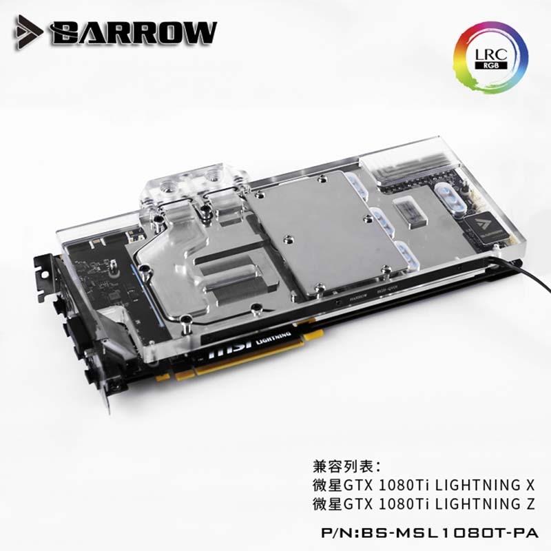 Barrow GPU Water Block for msi GTX1080Ti LIGHTNING X  LRC2.0 water coolerBarrow GPU Water Block for msi GTX1080Ti LIGHTNING X  LRC2.0 water cooler