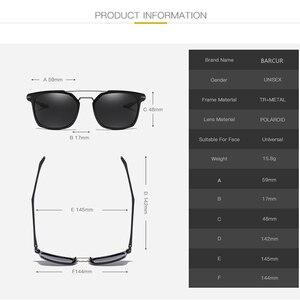 Image 5 - BARCUR Luxus Marke TR90 Rahmen Sonnenbrille für Männer Sonnenbrille Damen Sport Brillen