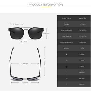 Image 5 - Barcur 高級ブランド TR90 フレームサングラス男性のためのサングラスレディーススポーツ眼鏡