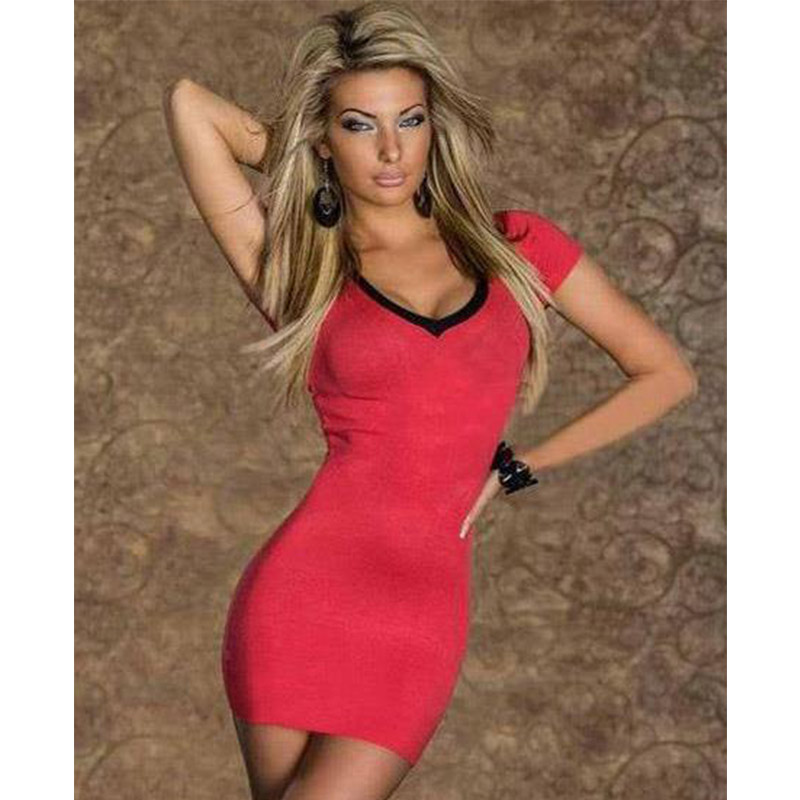 Women Elegant Solid Bodycon Dress Back Lace Up Short Sleeve Summer Dress Casual Spring Autumn Section Slimming Lady Vestidos