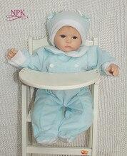 Npk, bonecas reborn, bebês meninas de 18 polegadas, silicone, bonecas reborn, realista, bebê recém-nascido, princesa, com roupas de pelúcia, casa de bonecas, plamates
