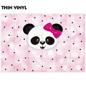 Image 3 - Funnytree fundo fotografia rosa dos desenhos animados, panda, bolinhas, crianças, aniversário, festa, backdrops, câmera, telefone fotográfico
