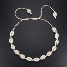 Colar de concha com gargantilha feminina, joias para mulheres