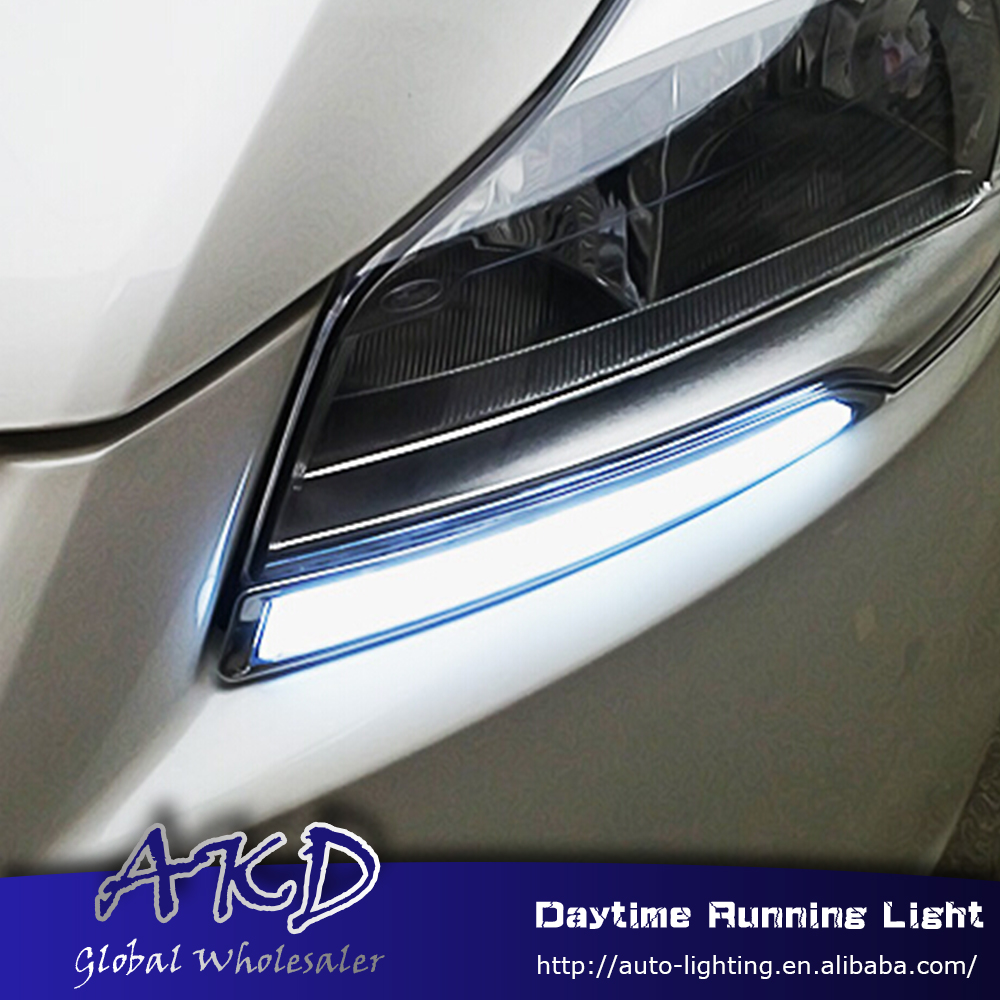 AKD Car Styling for Ford Kuga Escape LED DRL for Kuga 2013-2015 Turning Led Drl Running Light Fog Light Parking Accessories car styling auto roof rack side rails bars baggage holder luggage carrier aluminum alloy for ford escape kuga 2013 2014 2015