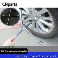 CNparts Universal Car Cross Type Folding Socket Wrench Tool For Lada Vesta Acura Chevrolet Cruze Mazda 3 6 CX 5 Ford Accessories