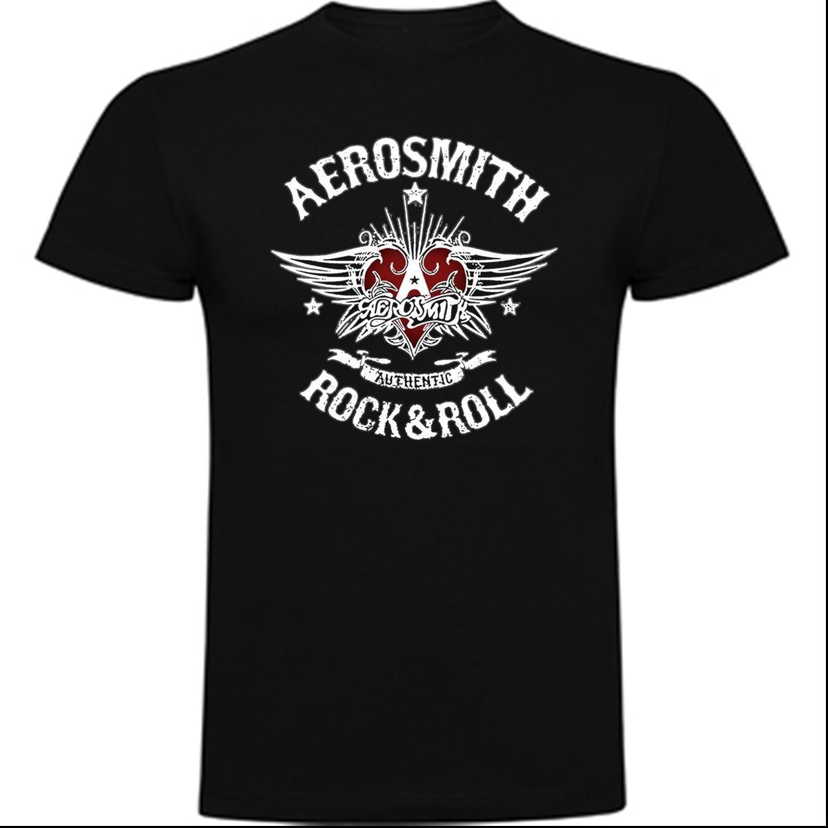 AEROSMITH S XXL T SHIRT HARD ROCK ROLL BAND MUSIC BLUES Short Sleeves New Fashion T