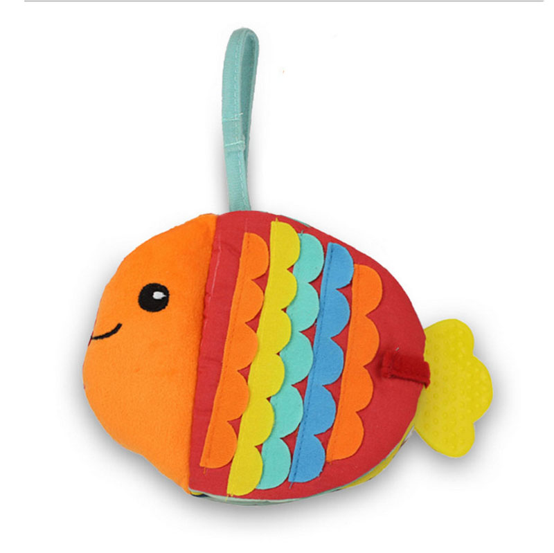 Baby Rattles & Mobiles Toys & Hobbies Impartial Animals Fish Soft Cloth Fun Book Baby Intelligence Development Bb Sounds Learn Picture Cognize Quiet Book Rattle Toy B0920 Buy One Get One Free