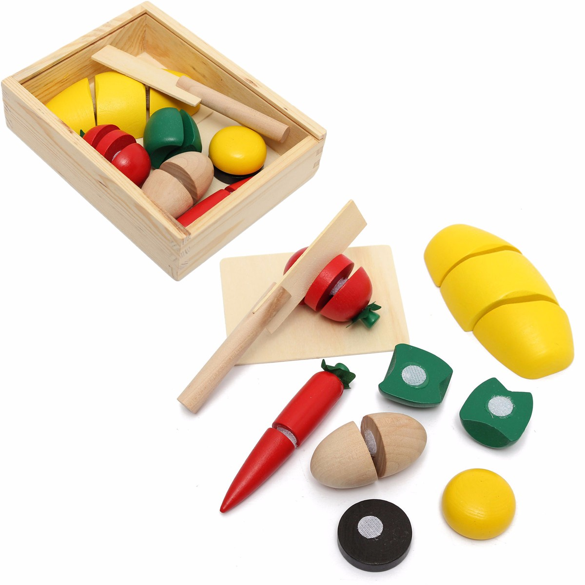 Play Cooking Toys : Kitchen pretend play toy setwooden food fruit vegetable