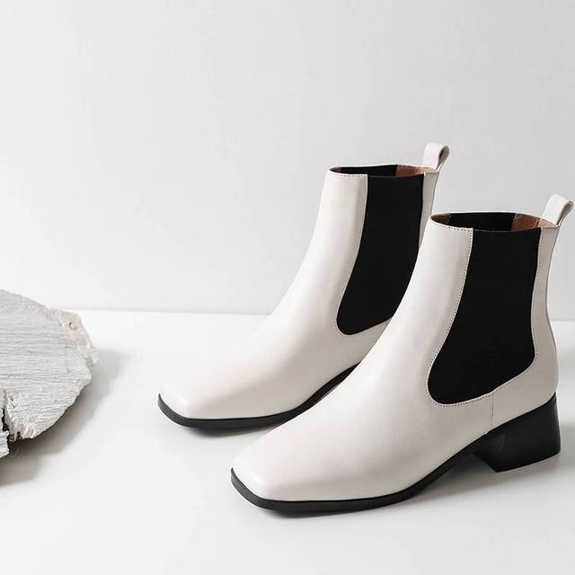 short chelsea boots office lady young