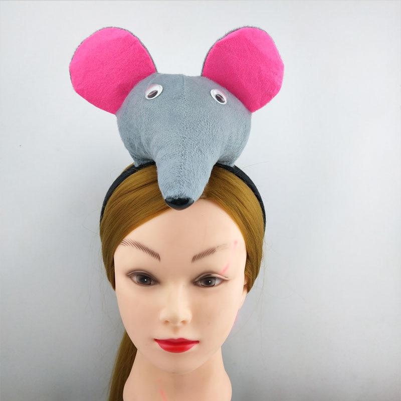 Детская повязка на голову с ушками животных для мальчиков и девочек; комплект с галстуком-бабочкой и хвостом для детей и взрослых; карнавальный костюм; вечерние аксессуары для волос