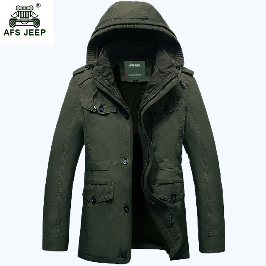 Free shipping AFS JEEP 2017 Mens Clothing Brand Autumn Winter Good Quality men winter ja ...