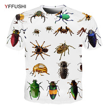 YFFUSHI 2019 New Arrival Men's 3D T-shirt Tops Spider Insects Printed Male/Female T shirts Summer Short Sleeve Top Tees for Men