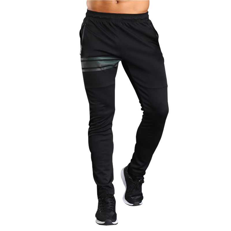 2018 Football Soccer Training Pants Men With Zipper Pocket Jogging Trousers Fitness Workout Running Sport Pants for summer