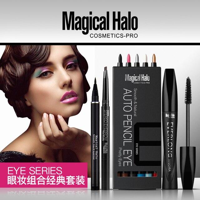 2017 Sell like hot cakes Magical Halo eye makeup combination four piece eye pencil liquid eyeliner pencil eyebrow pencil mascara