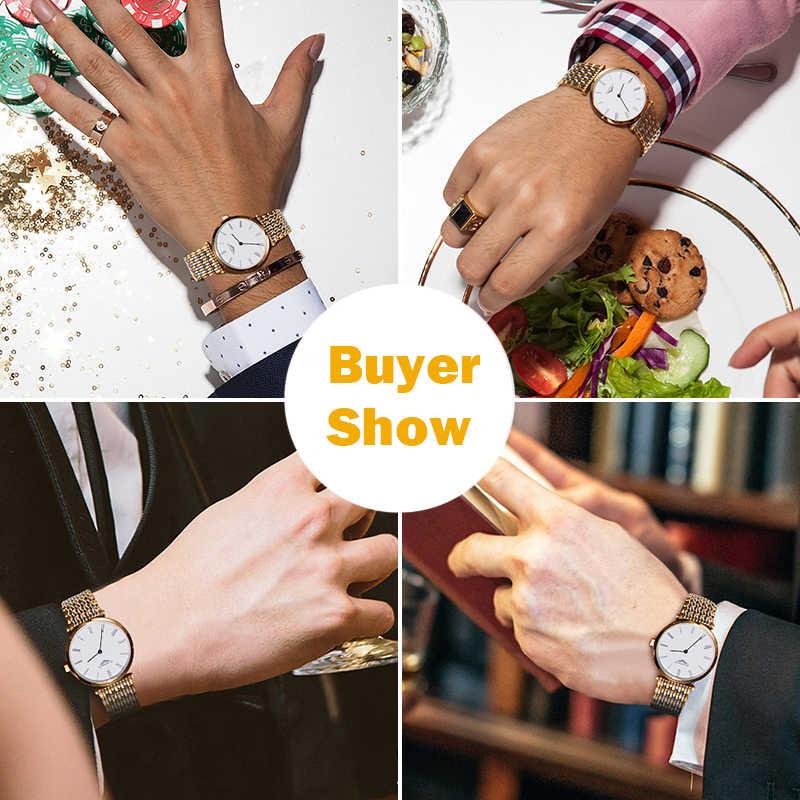 GUANQIN zegarek dla pary zestaw diament kobiet luksusowy zegarek kwarcowy mężczyźni kobiety panie zegarek miłośników zegarek zegar człowiek relogio masculino