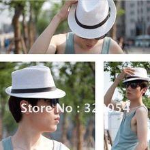 2pcs lot Memories of the popular adult strawJazz caps leather belt men and women straw hats