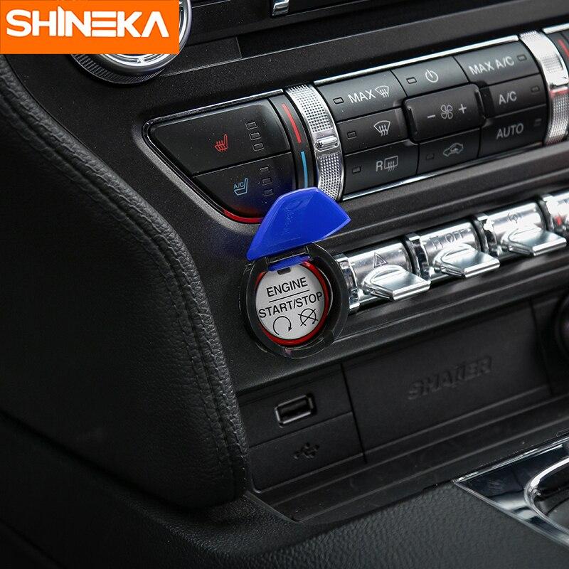 SHINEKA Fit For Ford Mustang 2015 2016 2017 Motor Button Start Stop - Aksesorë të brendshëm të makinave - Foto 5
