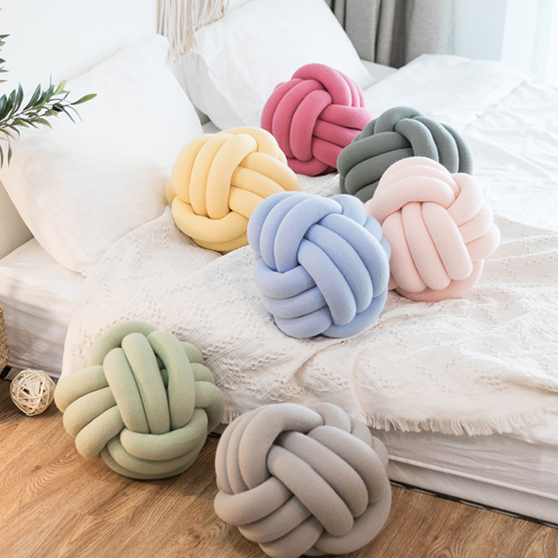 Wonder Space Handmade Knot Plush Pillow Nursery /& Home Decor for Sofa and Room Soft Cute Cushion Ball White, 7 INCH