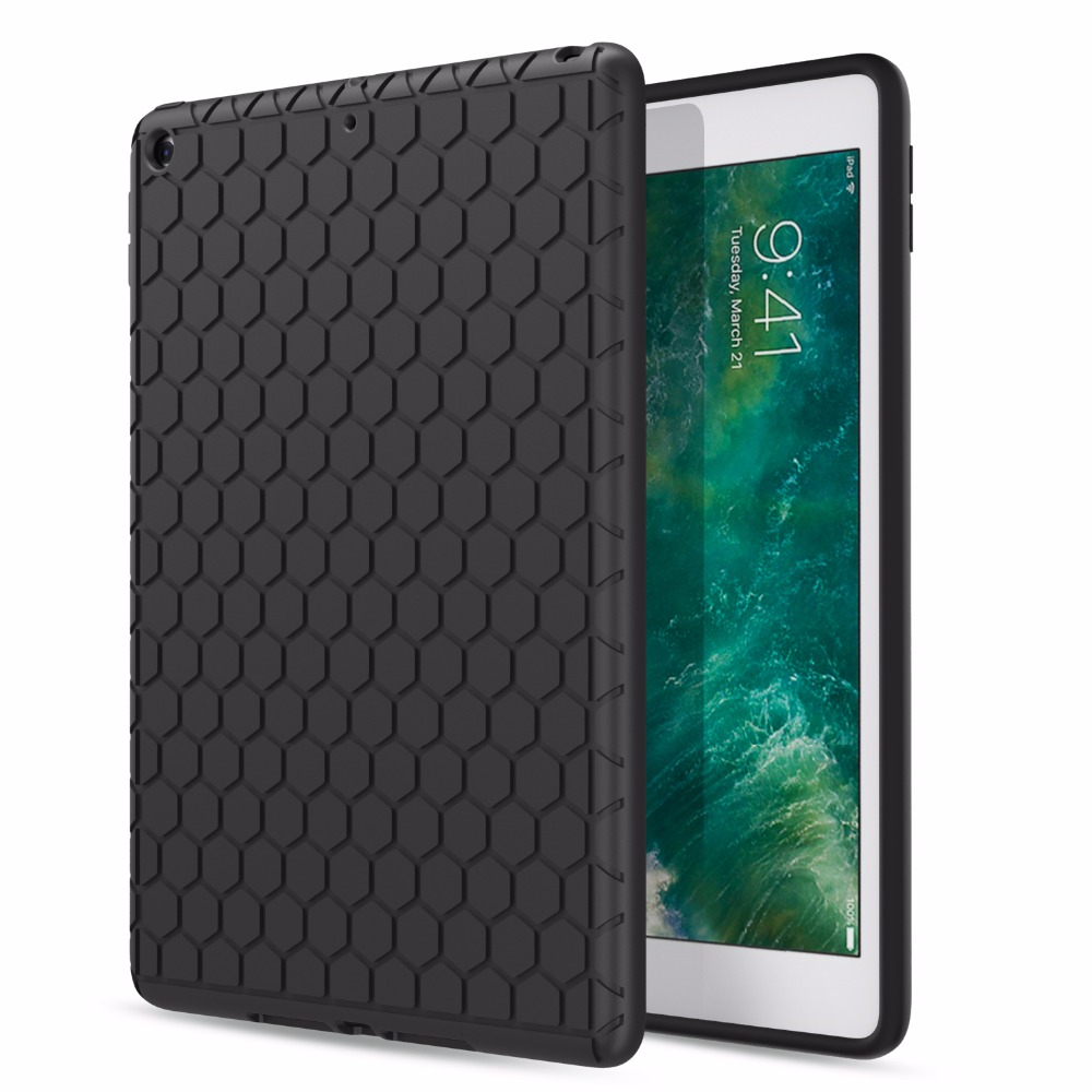 MoKo Fit for  iPad 9.7 2018/2017 - [Honey Comb Series] Light Weight Shock Proof Soft Silicone Back Cover [Kids Friendly]MoKo Fit for  iPad 9.7 2018/2017 - [Honey Comb Series] Light Weight Shock Proof Soft Silicone Back Cover [Kids Friendly]