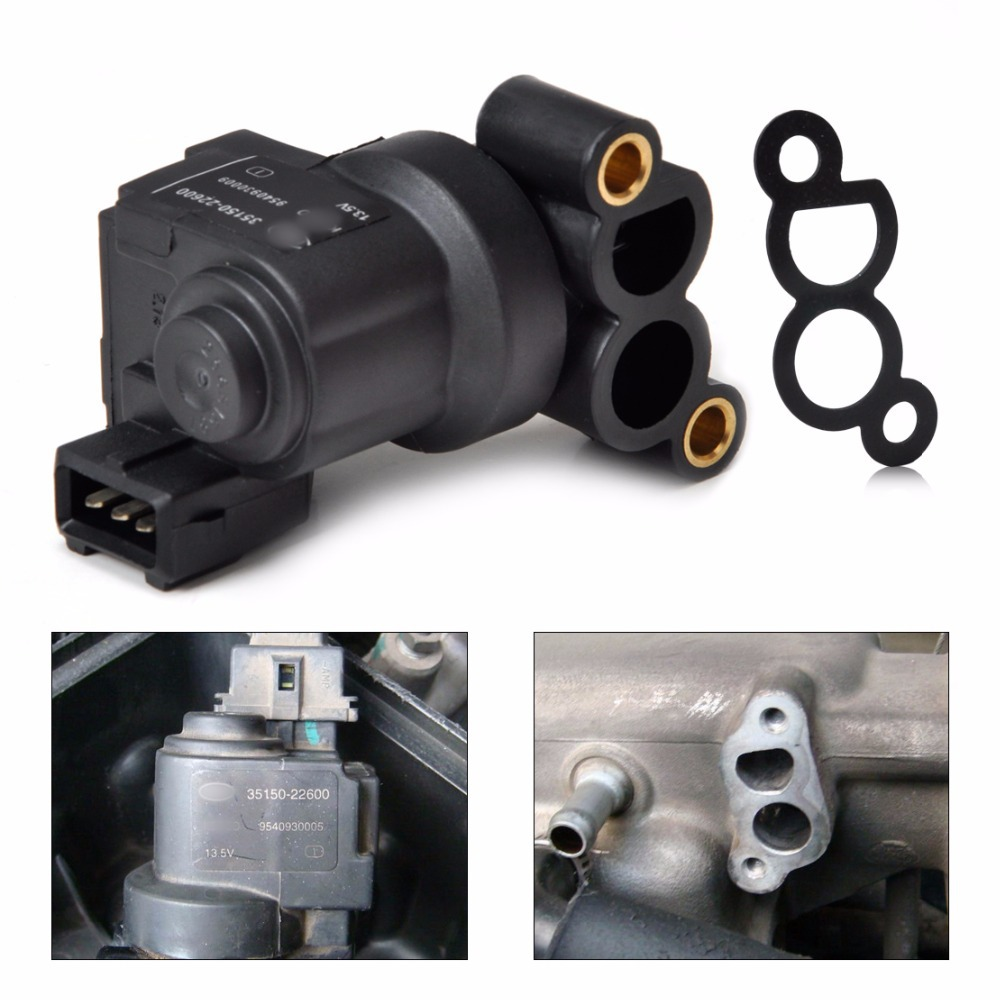 Idle Air Control Valve For Hyundai Sonata Tiburon Kia: Tracking # 3515022600 ∞ AC493 AC493 New Black Idle Air