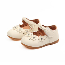 Girl Shoes White Princess Flats Fashion Flower Soft First Walk Outdoor Kid Leather Casual For Steps
