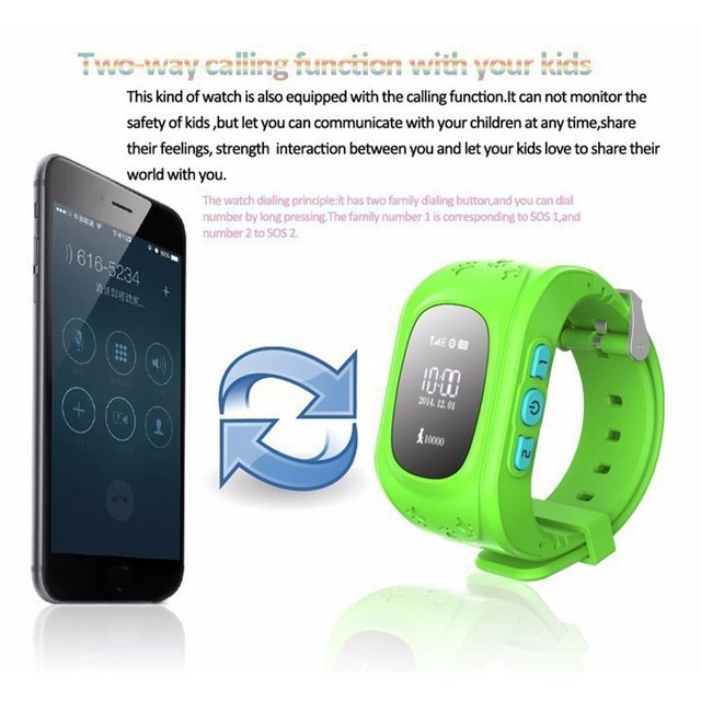Children's Smart Watch GPS Multiple location, Protect Your Kids Safety, SOS Tracker Anti Lost Wristwatch