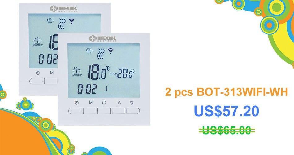 BEOK BOT 313WIFI Gas Boiler Heating Thermostat Blue&White AC220V ...
