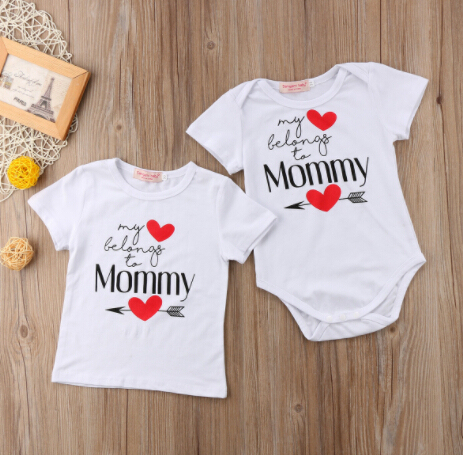 Family Matching Outfits Valentine S Day Newborn Baby Boy Girl