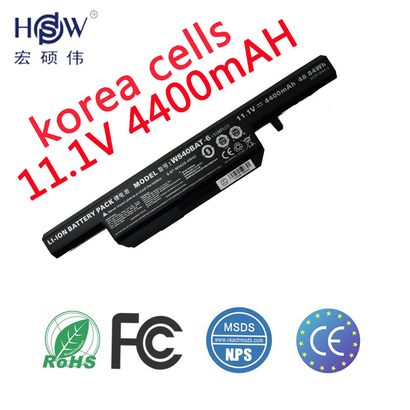 HSW Laptop Battery For Clevo W155u W540eu W54eu W550 W550eu W55eu W540 W540bat 6 Licr19 66 2 battery for laptop 6 87 w540s 4w41 in Laptop Batteries from Computer Office