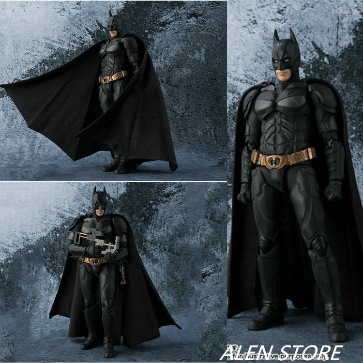 ALEN SHF S.H.Figuarts Batman The Dark Night Movable Figure Collectible Model Toy 15cm