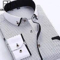 Big Size 5XL Men Dress Shirt 2016 New Arrival Long Sleeve Slim Fit Button Down Collar