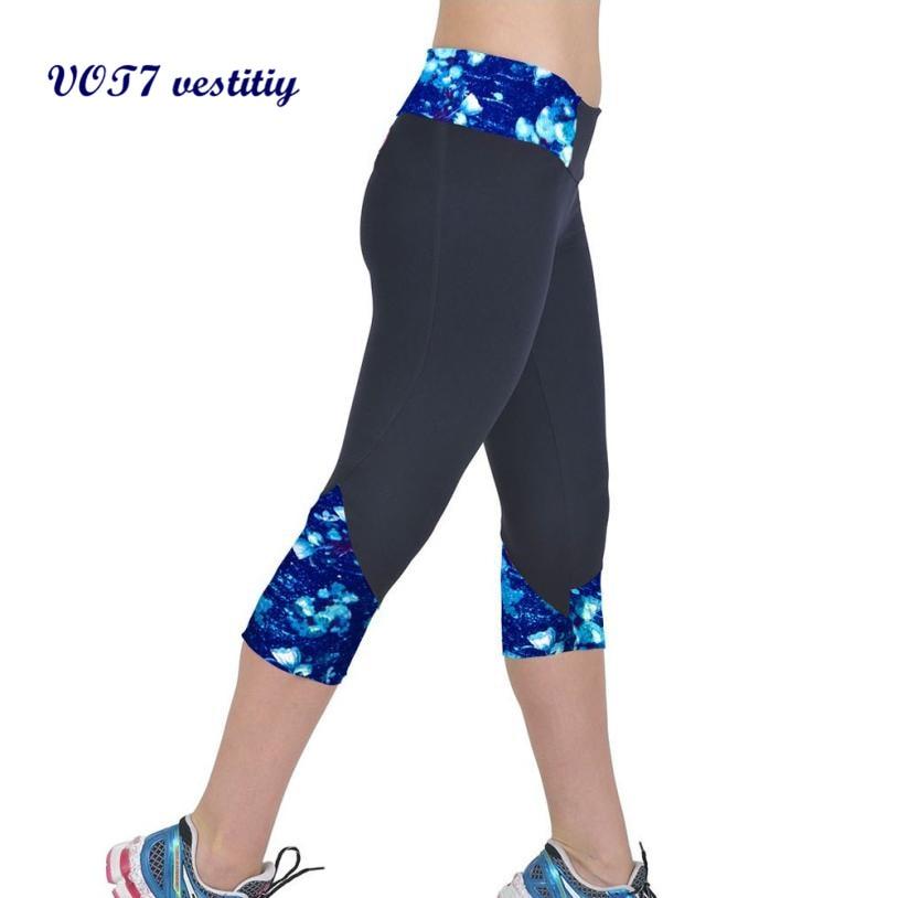 2016 Women American Football Pattern 3d Leggings Stretch: VOT7 Vestitiy 2018 High Waist Fitness 3D / Three