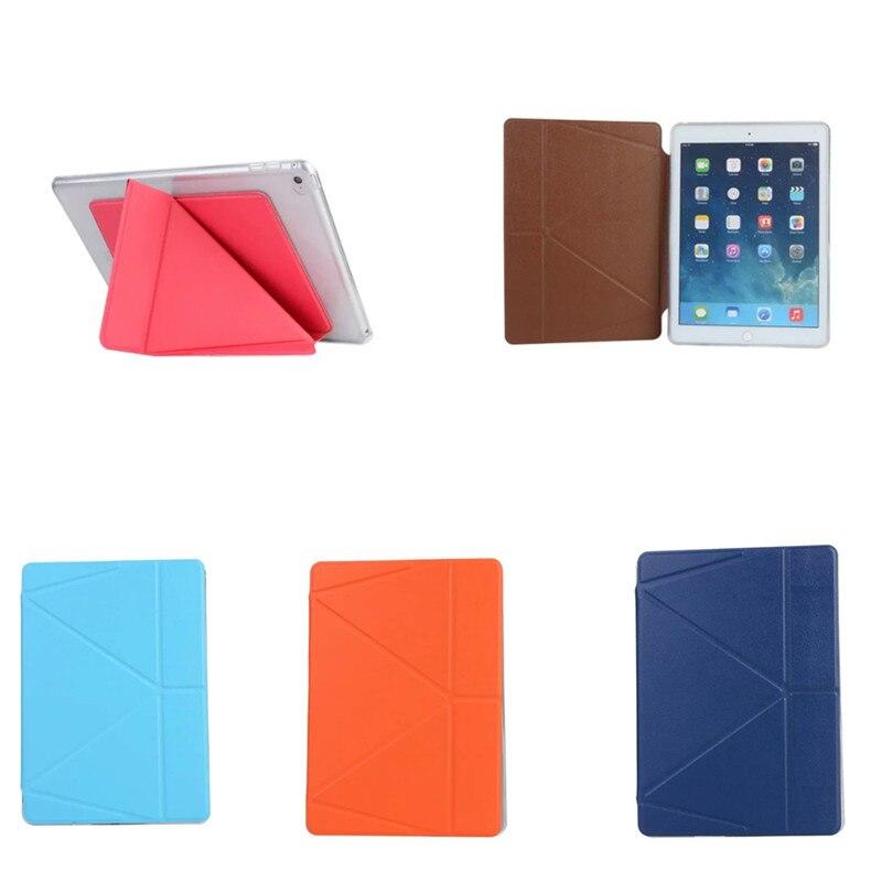 OST PU Leather Slim Folding Smart Cover + Soft TPU Shell Back Case For ipad 2 3 4 ipad3 ipad4 ipad2 Shapes Stand Tablet Kids