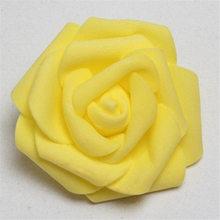 30Pcs/lot 8cm PE Foam Rose Artificial Flower Heads For DIY Wreaths Wedding Party Decoration Home Garden Decorative Supplies 85z