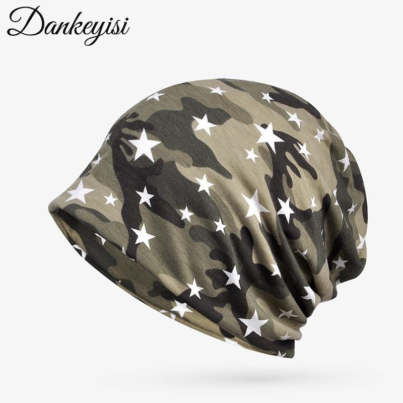 DANKEYISI Military   Beanie   Hat Women Knit Cap Star   Skullies     Beanies   Warm Caps Female Knitted Stylish Hats For Ladies Fashion
