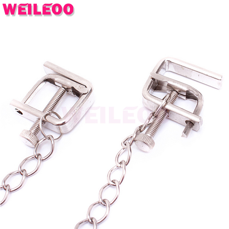 adjustable nipple clamps chain slave bdsm font b sex b font font b toys b font