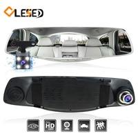 Car Dash Camera Cam Dvr Dual Lens Rearview Mirror Auto Dashcam Recorder Registrator Vehicle Car Video
