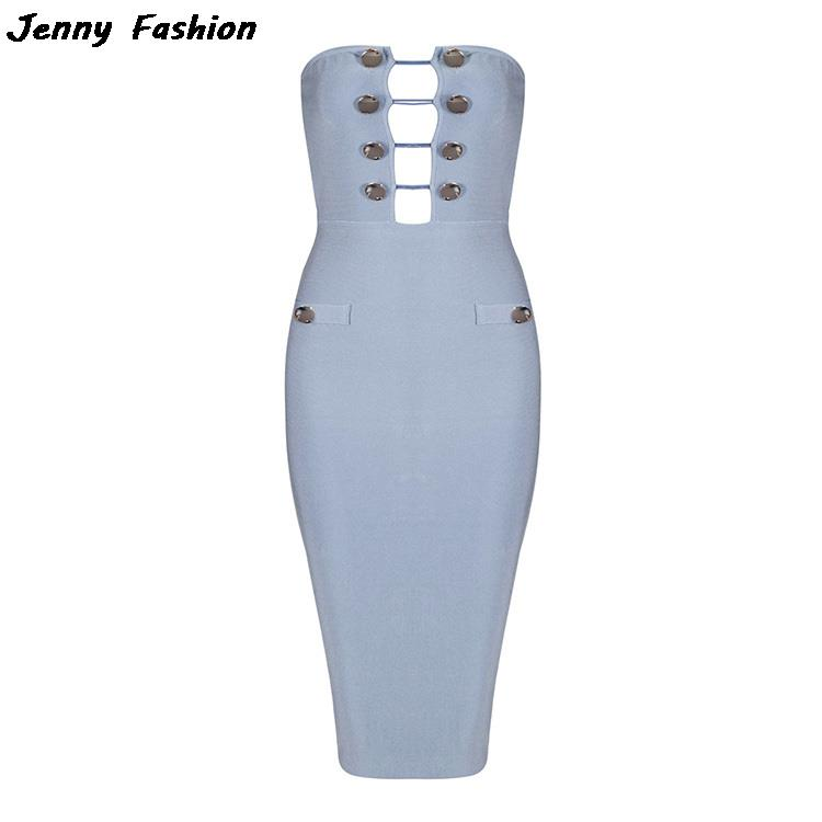 Jenni Button Cocktail Dresses