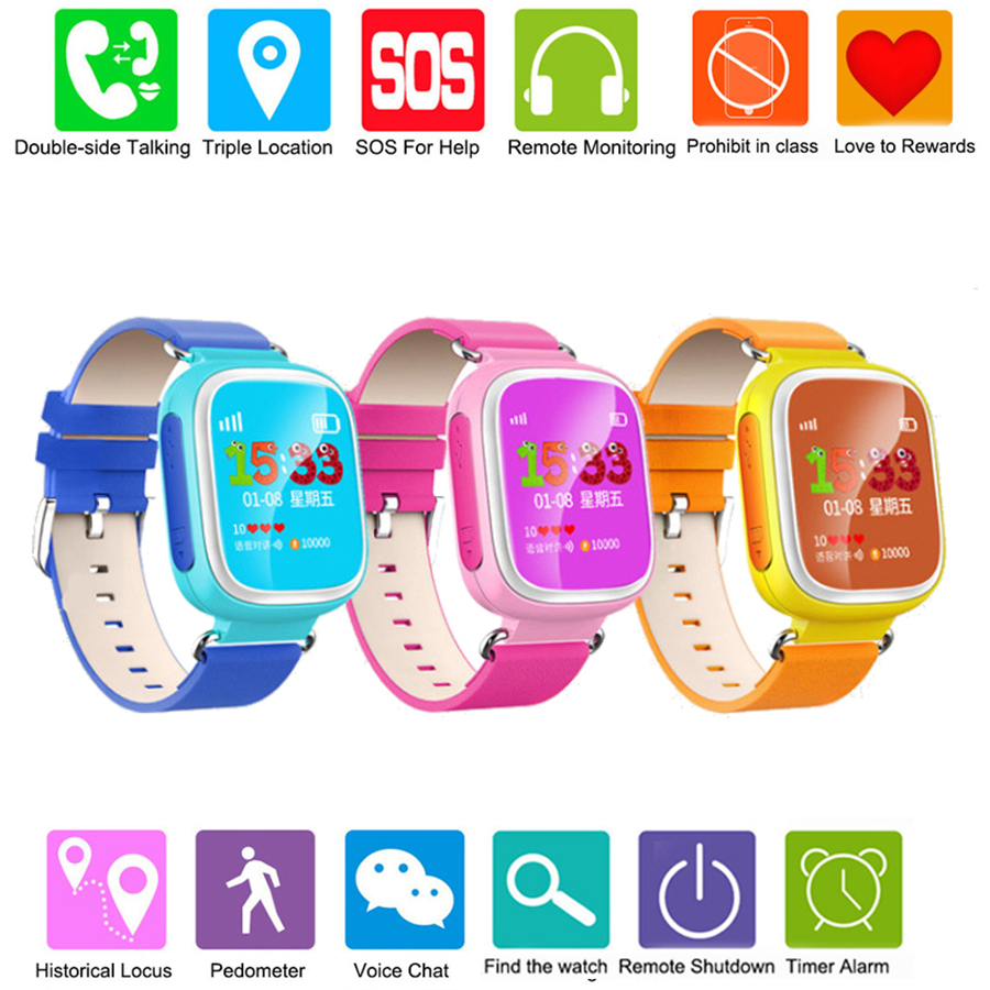 2016 Kid GPS Smart Watch Wristwatch SOS Call Location Device Tracker for Kid Safe Anti Lost