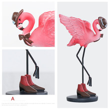 Pink Flamingos Decorations Cute animal Home Decoration Crafts Couple Desktop decorations Creative new Year's birthday party Gift