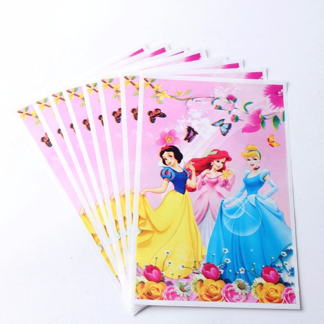 20pcs Lot Princess Theme Party Gift Bag Decoration Plastic Candy Loot For